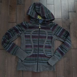 Lululemon Scuba Hoodie Multi Poncho Stripe Size 4